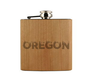 OR Grown Wood Wrapped Flask