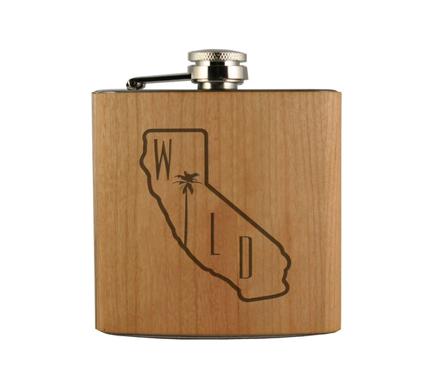 So Cal Wild Wood Wrapped Flask