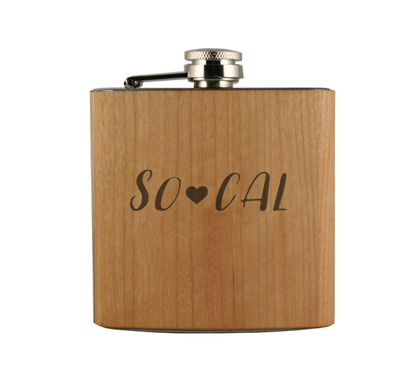 So Cal Wood Wrapped Flask