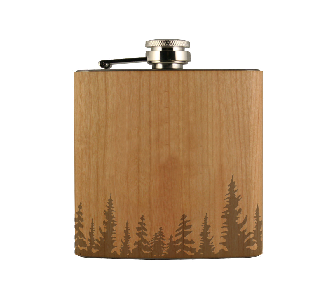 Treeline Wood Wrapped Flask