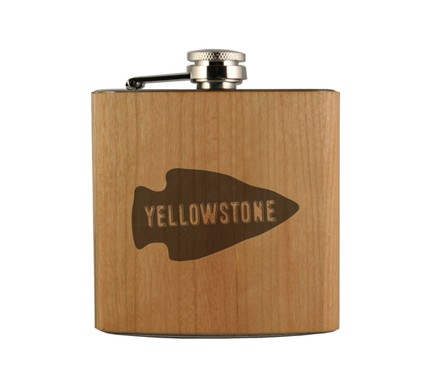 Yellowstone Wood Wrapped Flask
