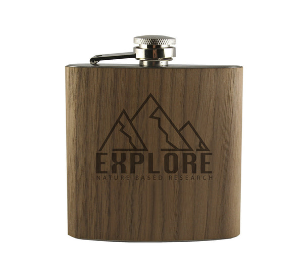 Nature Based Research Wood Wrapped Flask