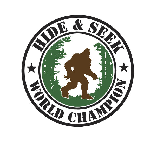 Bigfoot Hide and Seek World Champion Sticker