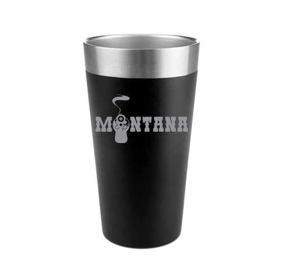 Montana Gun Barrel Stainless Steel Insulated Pint