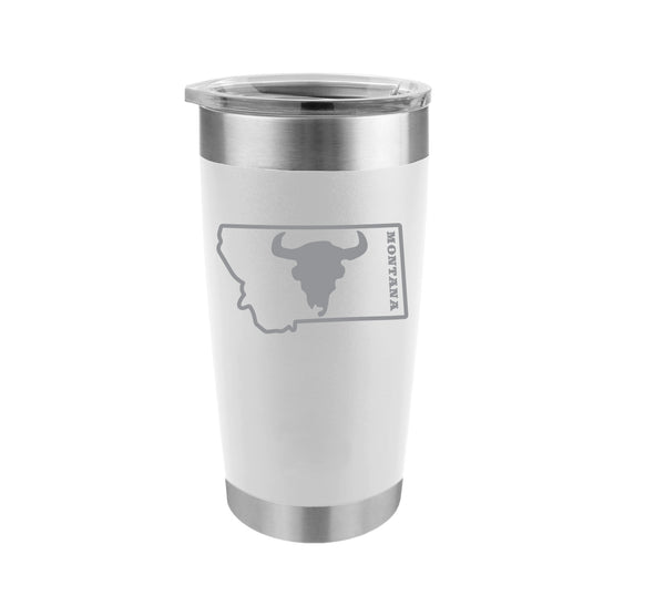 Bison Skull in Montana Stainless Steel Insulated Tumbler