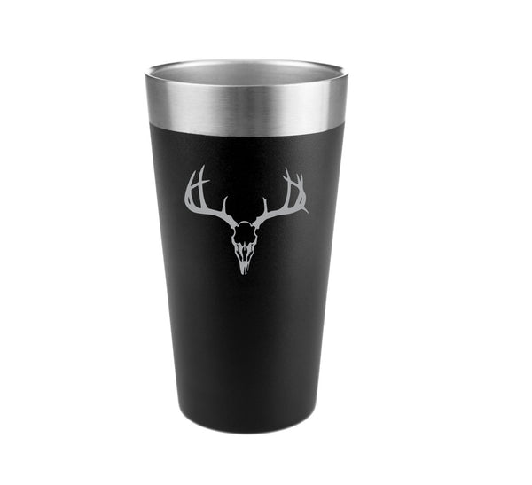 Deer Skull Stainless Steel Insulated Pint