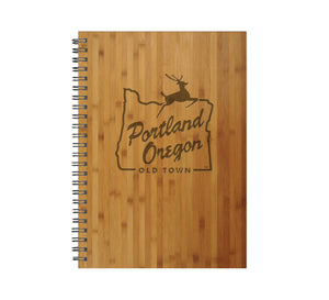 Portland Stag Sign Wood Journal