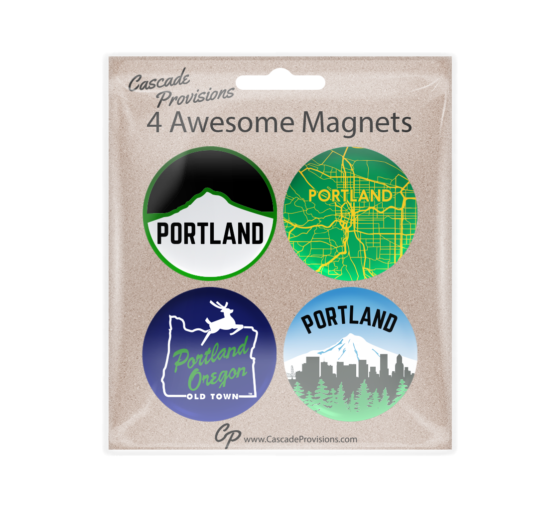 Portland City Magnet Pack