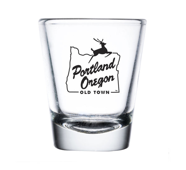 White Stag Sign Shot Glass