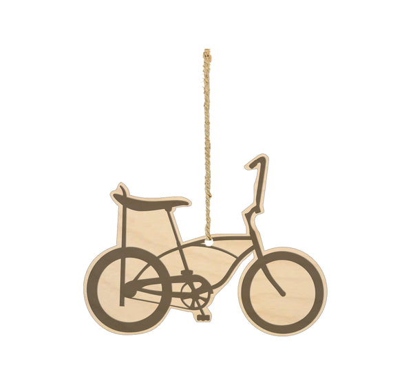 Banana Bike Wood Ornament