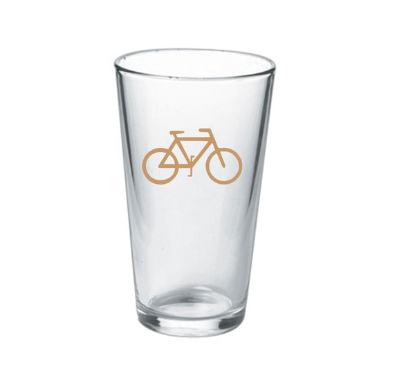 16oz Bike Pint Glass