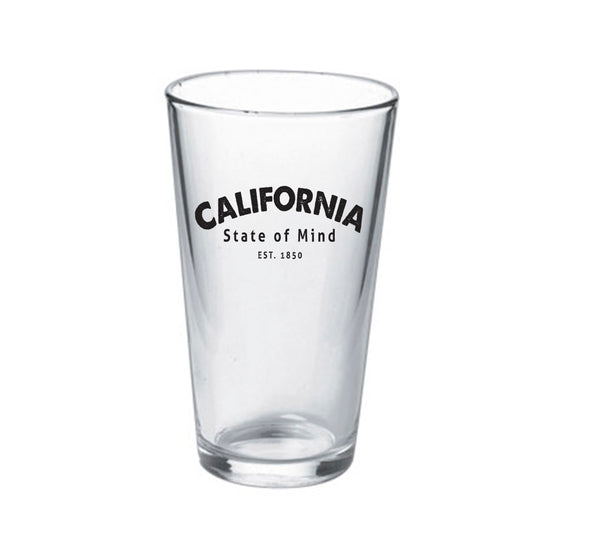 16oz California State of Mind Pint Glass