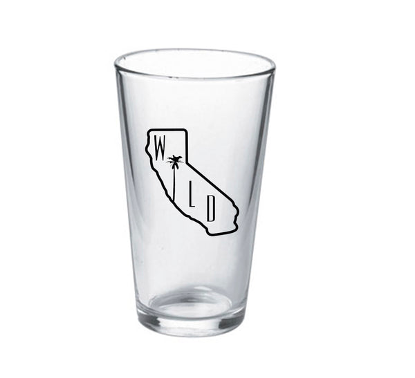 16oz California Wild Palm Pint Glass
