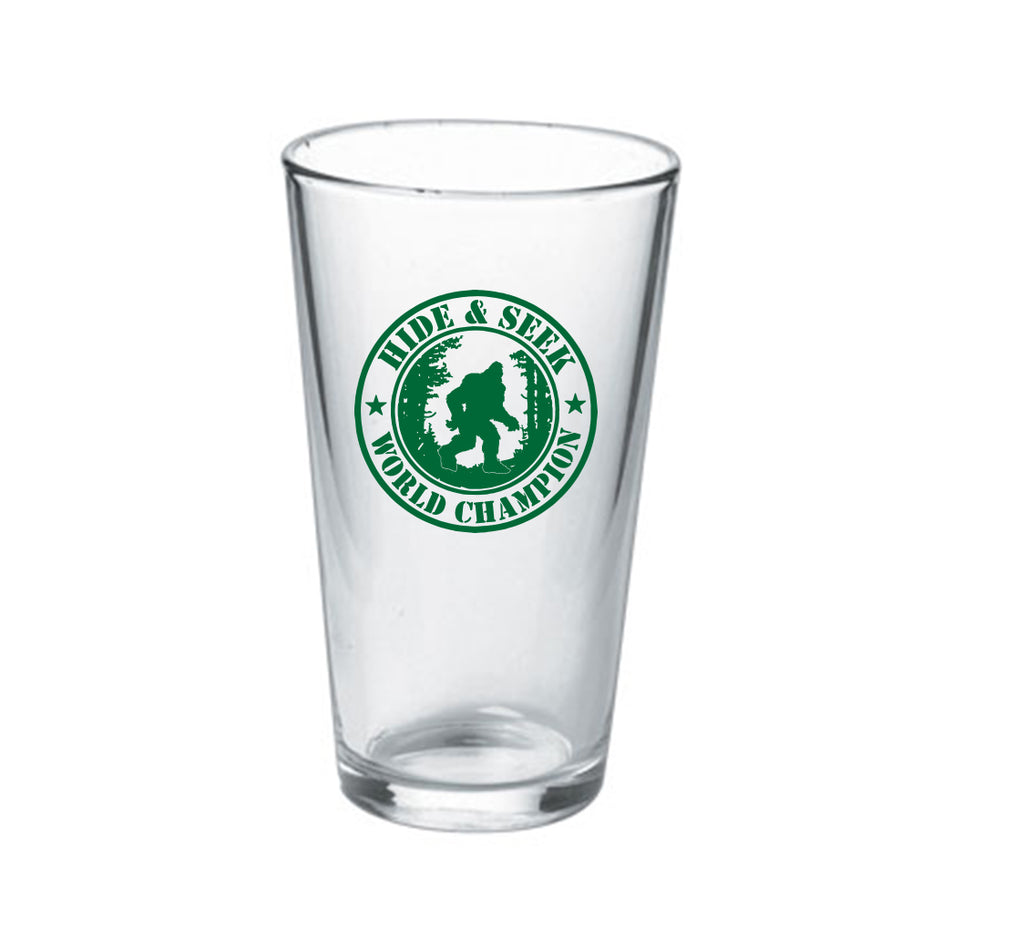 Hide and Seek World Champion 16oz Pint Glass