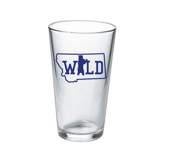 16oz Montana Wild Bear Pint Glass