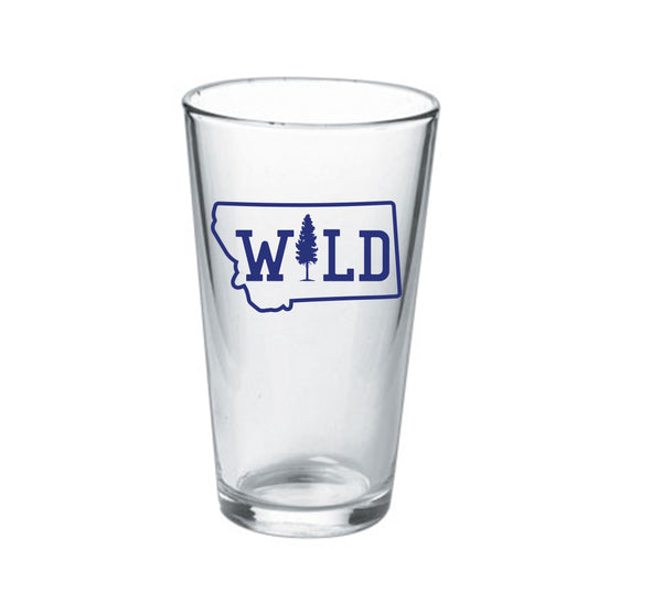 16oz Montana Wild Tree Pint Glass