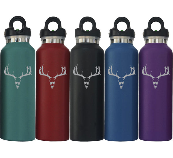 Deer Skull Insulated Water Bottle with Revomax Technology