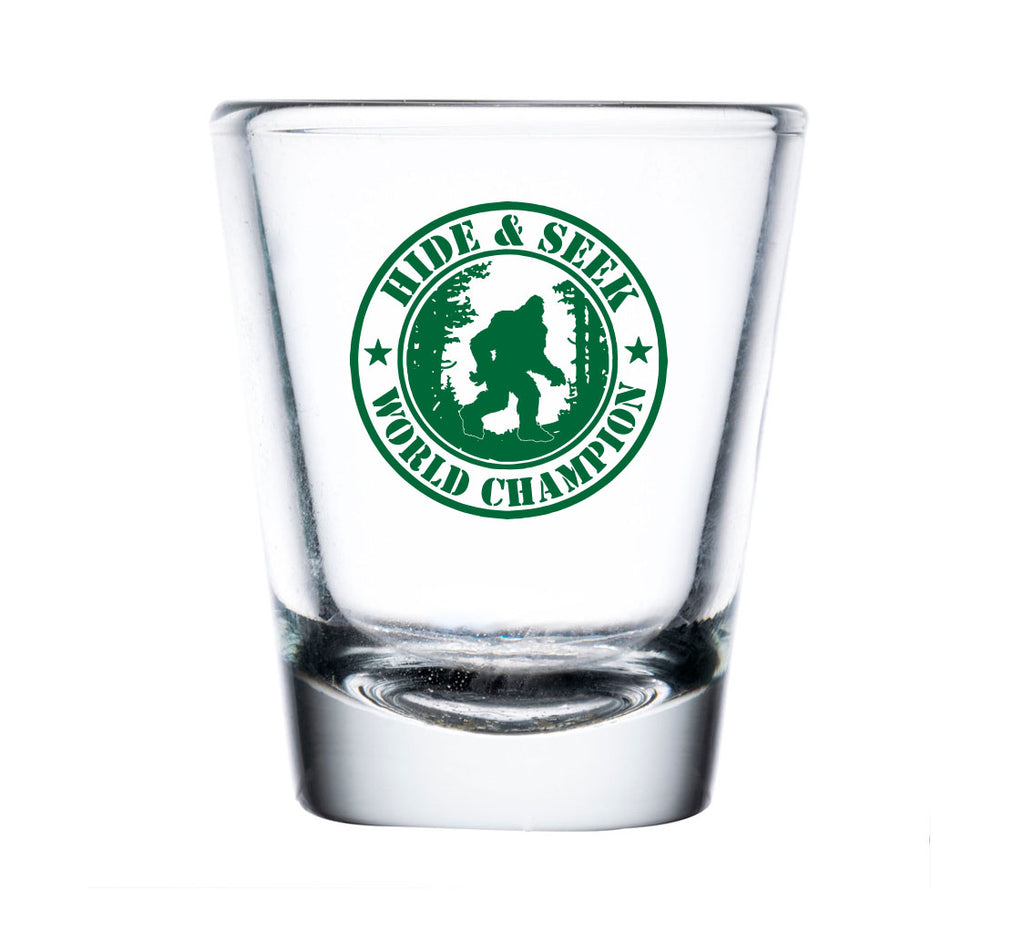Hide and Seek World Champion Shot Glass