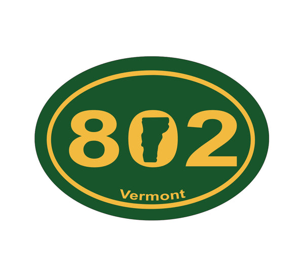 802 Vermont Oval Sticker