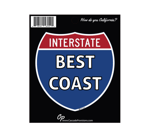Best Coast (West Coast) Sticker