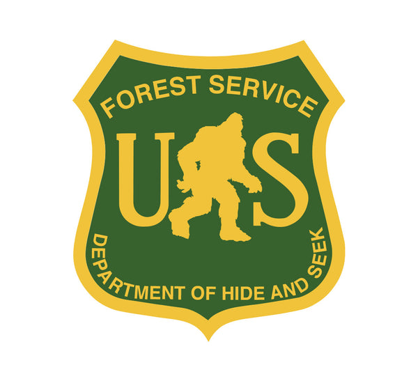 Bigfoot Forest Service Dept. of Hide and Seek Sticker