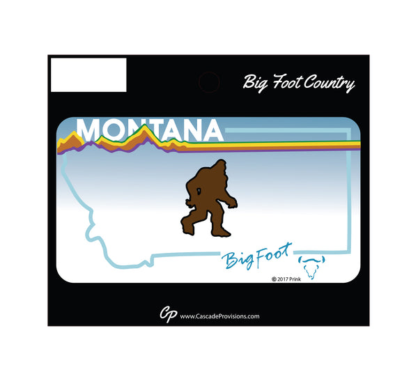 Bigfoot Montana License Plate Sticker