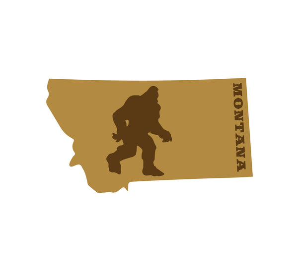 Bigfoot in Montana Sticker