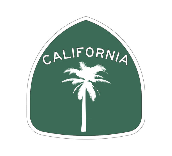 California 101 Palm Tree Sticker