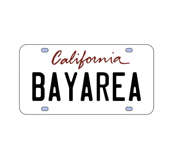 California Bay Area License Plate Sticker