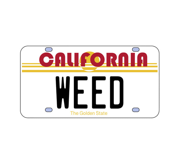 California Weed License Plate Sticker