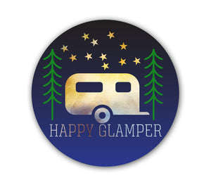 Happy Glamper Sticker