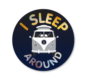 I Sleep Around Van Vinyl Sticker