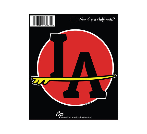 LA Surf Sticker