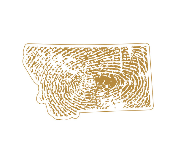 Montana Fingerprint Sticker