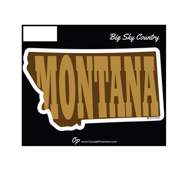 Montana in Montana Sticker