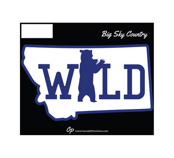 Montana Wild Bear Sticker