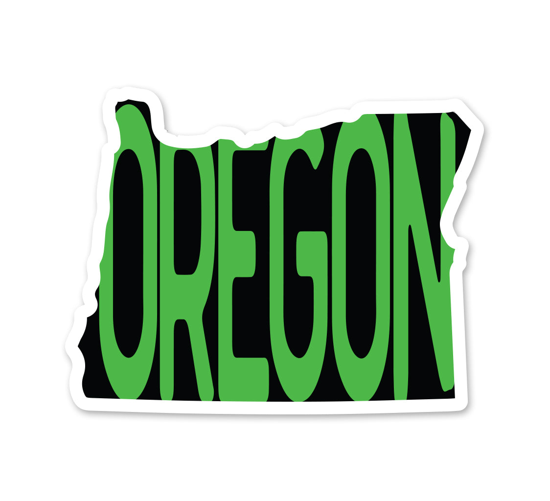 OREGON in OR Sticker