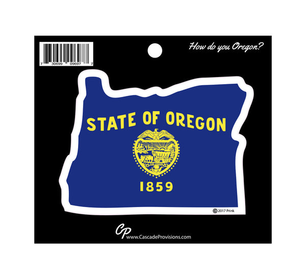 Oregon State Flag in Oregon Sticker