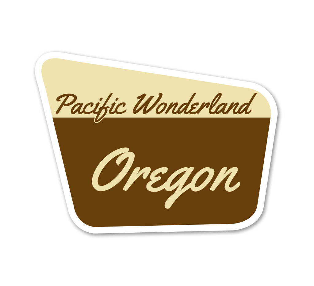 Pacific Wonderland OR Sticker