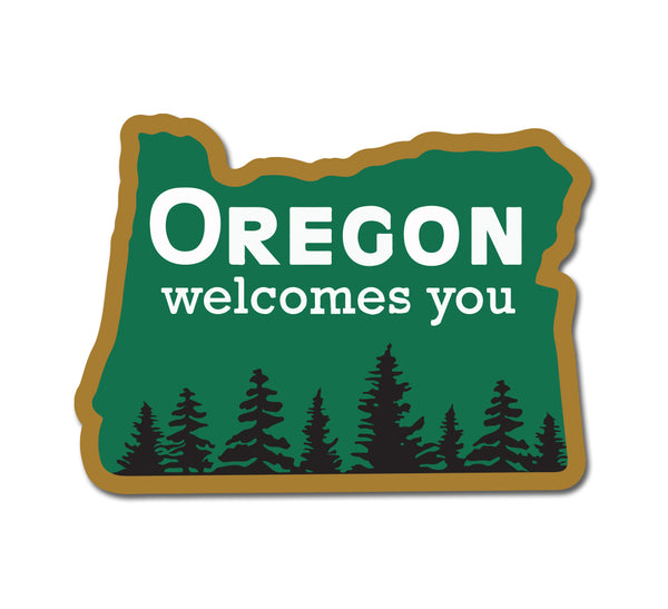 Oregon Welcomes You Sticker