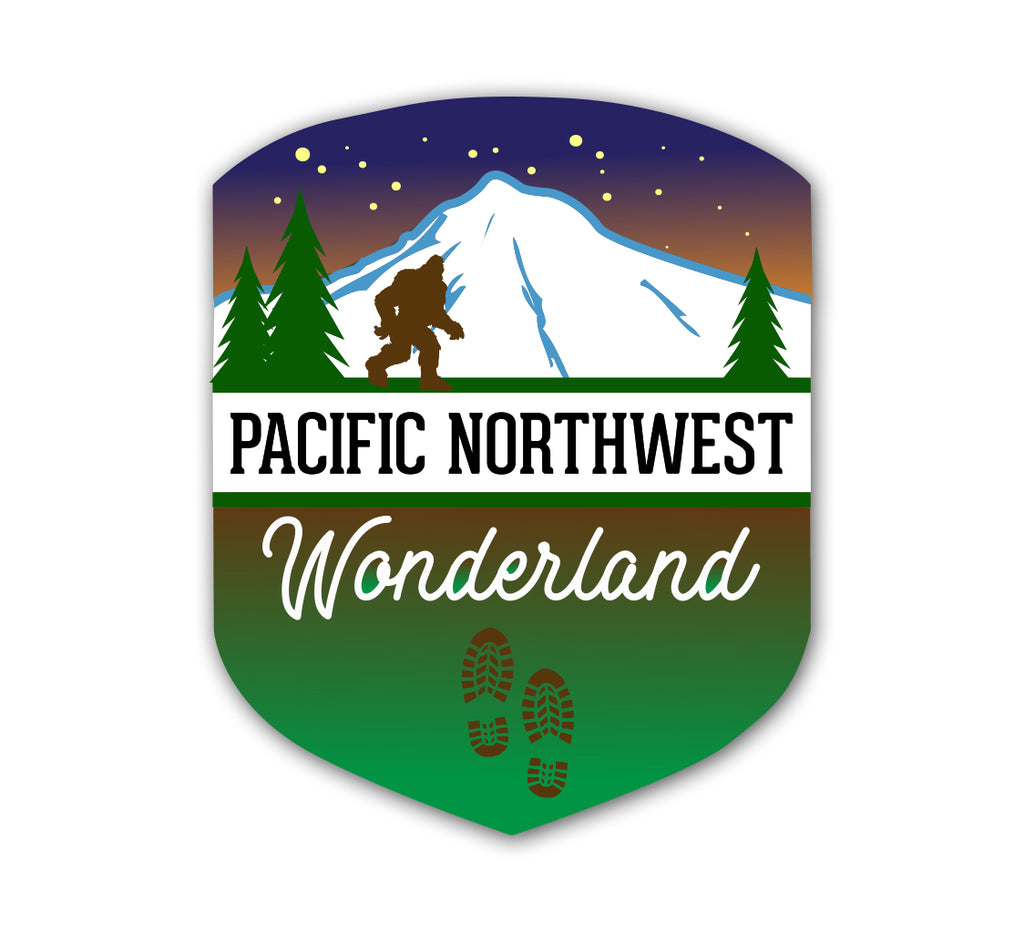 PNW Hiker Badge Sticker