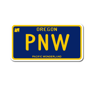 PNW License Plate Sticker