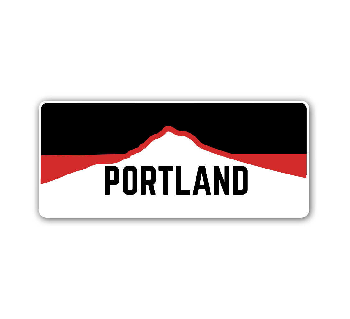 Portland Horizon Red Sticker