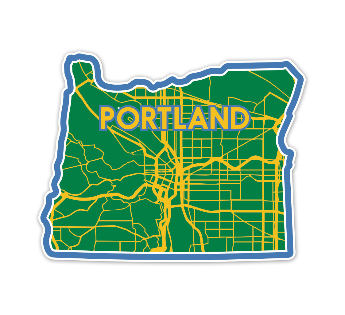 Portland City Map Sticker