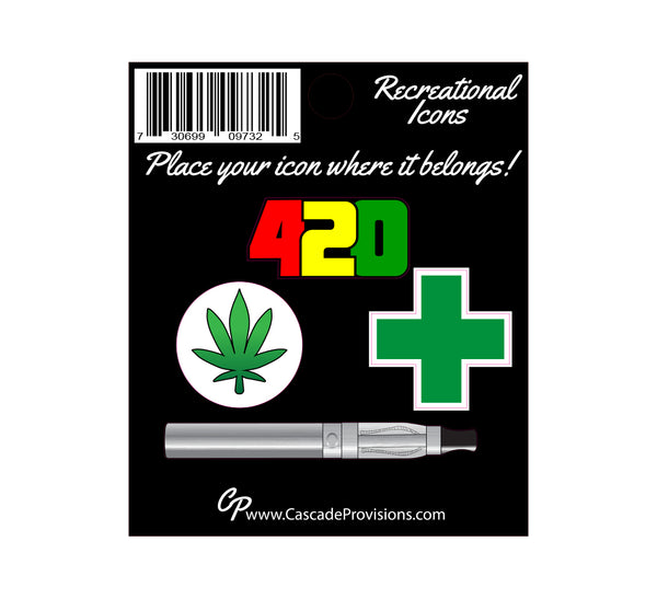 420 Icon Sticker Pack