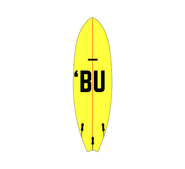 'BU Surfboard Sticker