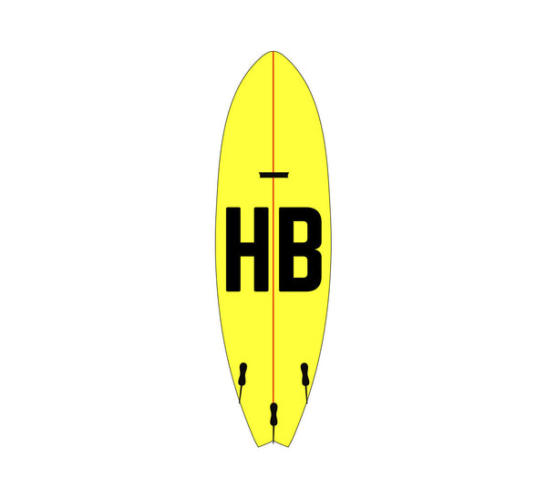 HB Surfboard Sticker