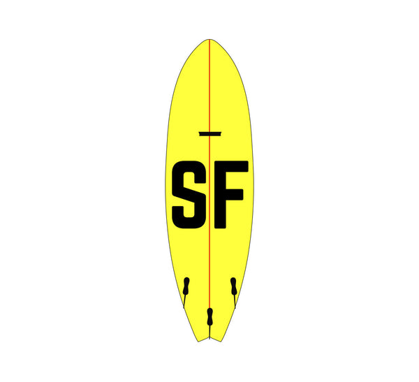 SF Surfboard Sticker