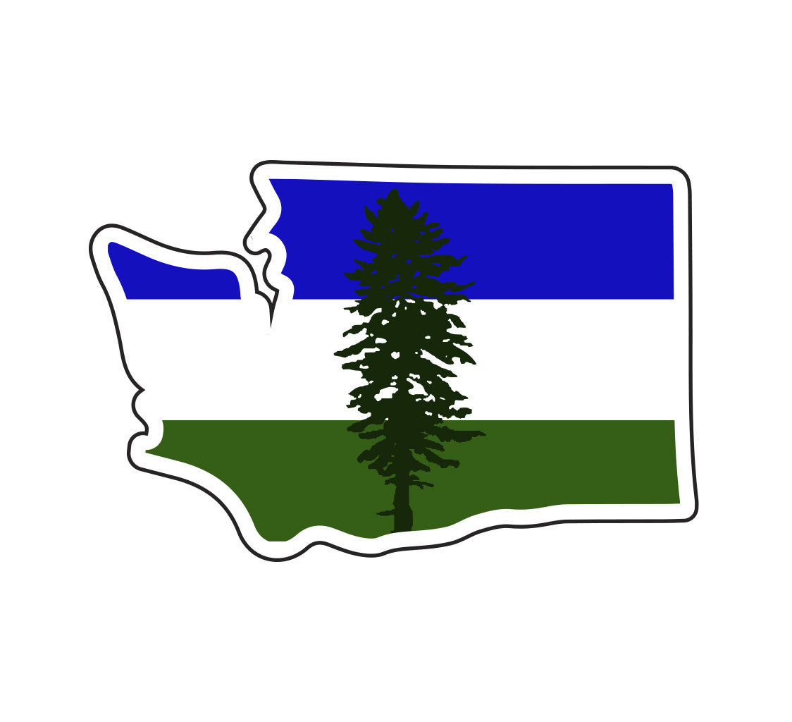 Cascadia Flag in Washington (State) Sticker