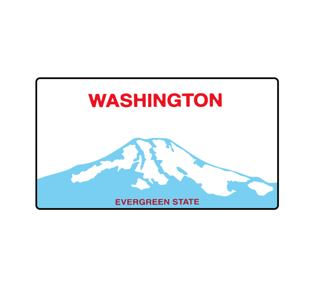 WA State License Plate Sticker